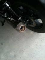 Removing Baffles on Arrow Slip-On Exhaust on a V7 Classic